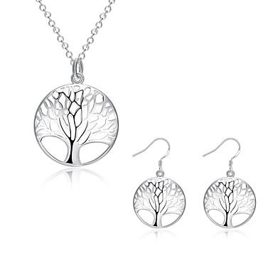 Halskette / Ohrringe versilbert Baum des Lebens Silber Halsketten Ohrringe Für Hochzeit Party Alltag Normal 2 Stück Hochzeitsgeschenke