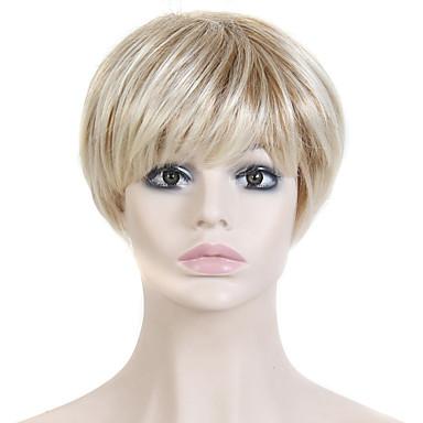 AISI HAIR Damen Synthetische Perücken Gerade Blondine Kostümperücke