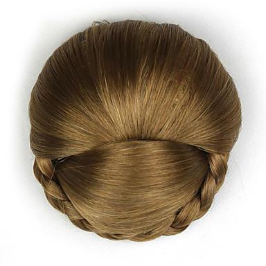 crépus bouclés mode d'or cheveux humains capless perruques chignons 2005