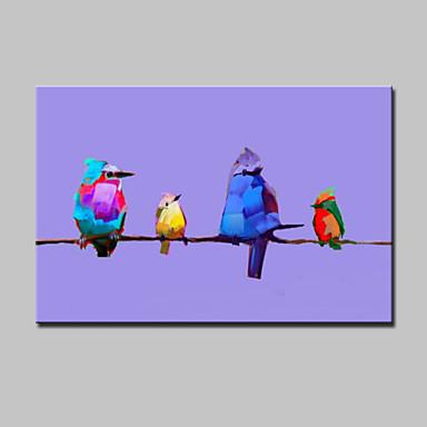 Håndmalte Dyr Vannrett, Moderne Lerret Hang malte oljemaleri Hjem Dekor Et Panel