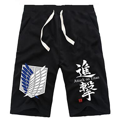 Inspiriert von Attack on Titan Eren Jager Anime Cosplay Kostüme Cosplay Tops / Bottoms Solide Unterhose Für Herrn