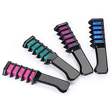 (Ein Satz mit 4 Farben) semi-permanente Haarfarbe Kreidepulver mit Kamm hochwertige temporäre blaue Haarmascara Mehrfarben
