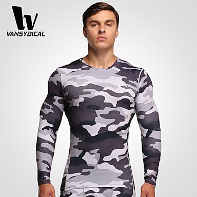 Homens Camiseta de Corrida Secagem Rápida Respirável Compressão Camiseta Meia-calça Calças Blusas para Exercício e Atividade Física