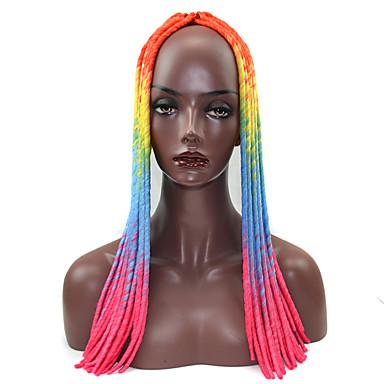 Extensões para Entrelace 100% cabelo kanekalon 1 Dreadlocks / Faux Locs Dreadlocks Tranças de Cabelo