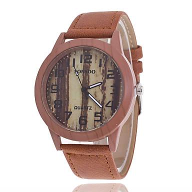 Masculino Relógio de Moda Relógio Casual Quartzo Couro Banda Marrom
