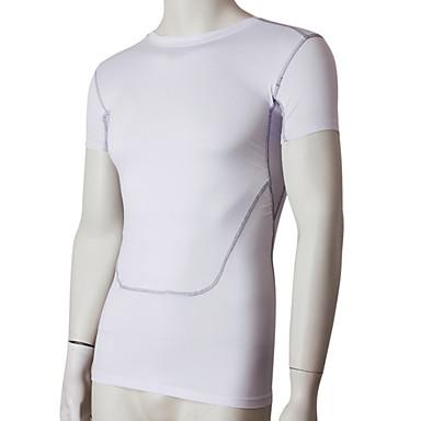 Herre T-skjorte til jogging Fort Tørring Svettereduserende T-Trøye Topper til Trening & Fitness Løp Svart Grå Rød Grønn Blå M L XL