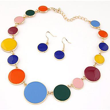 Femme Mignon Ensemble de bijoux Boucles d'oreille / Colliers décoratif - Soirée / Travail / Large Rouge / Bleu / Arc-en-ciel Set de