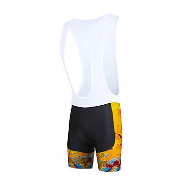 ILPALADINO Herrn Fahrradträgerhosen Fahhrad Bib - Shorts / Kurze radhose MIT Trägern / Unten 3D Pad, Rasche Trocknung, Windundurchlässig