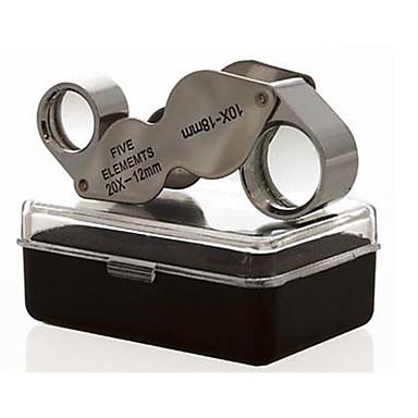 voordelige Microscopen & Endoscopen-Vergrootglazen / Microscoop Sieraden / Horlogereparatie Algemeen / High-Definition / Handheld / Vouwen 10X  20X 18mm Normaal Metaal