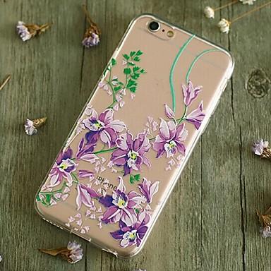 Til Etuier Covere Støtsikker Bakdeksel Etui Blomst Myk TPU til Apple iPhone 6s Plus iPhone 6 Plus iPhone 6s iPhone 6