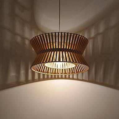 40w Lampe suspendue ,  Contemporain / Lanterne / Rustique / Plafonnier pour Ilôt de Cuisine Bois Fonctionnalité for Designers Bois/Bambou