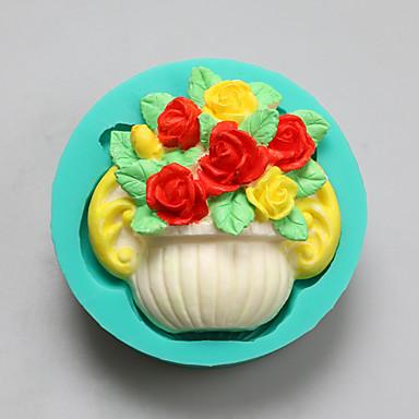 סל של תבניות סיליקון שוקולד פרחי צורה, תבניות עוגה, תבניות סבון, כלי קישוט בישול