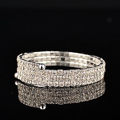 Femme Strass Collection personnelle de perle Argent Bijoux Mariage Soirée Anniversaire Fiançailles Cadeau Quotidien Décontracté Bureau et