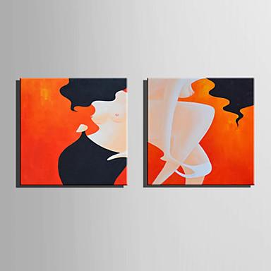 Handgemalte Abstrakt Quadratisch, Europäischer Stil Modern Segeltuch Hang-Ölgemälde Haus Dekoration Ein Panel