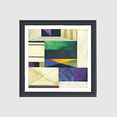 Peint à la main Abstrait Carré,Moderne Un Panneau Toile Peinture à l'huile Hang-peint For Décoration d'intérieur