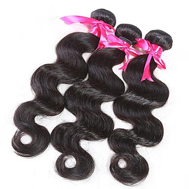 שיער ברזיאלי Body Wave שוזרת שיער אנושי 3 חלקים 0.95