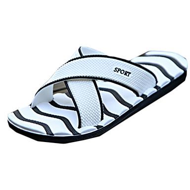 בגדי ריקוד גברים נעליים ניילון / PU קיץ נוחות כפכפים & כפכפים שחור / כחול / כחול ים