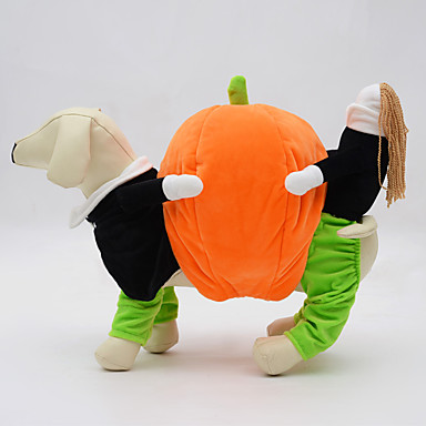 Dog Costume Dog Clothes Cosplay Halloween Solid Orange Costume For Pets