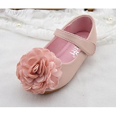 (Rosa / Hvit)Komfort-Flate sko-PU-GIRL