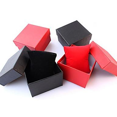 Schmuckbehälter Papier 1 Stück Schwarz Rot