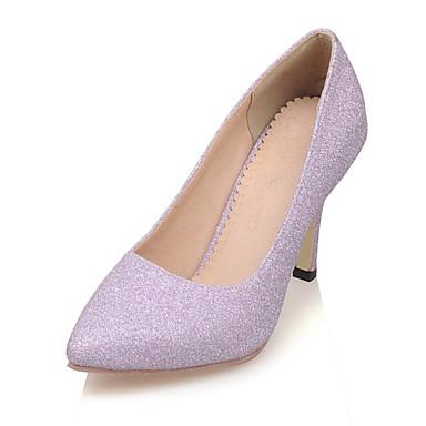 kvinners sko stiletto hæl hæler / spiss tå hæler bryllup / fest& kveld / kjole lilla / sølv / gull