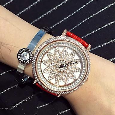 בגדי ריקוד נשים שעוני אופנה יהלוםSimulated שעון שעון משובץ אבנים קווארץ קוורץ יפני שעונים יום יומיים עור להקה פאר מדבקות עם נצנצים שחור