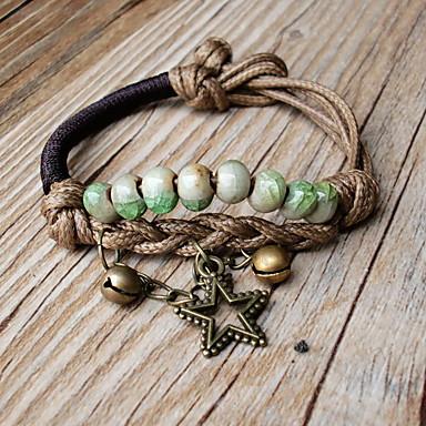 Femme Bracelets de rive Bracelets Mode Bohême Cuir Forme de Cercle Bijoux Pour Quotidien Décontracté