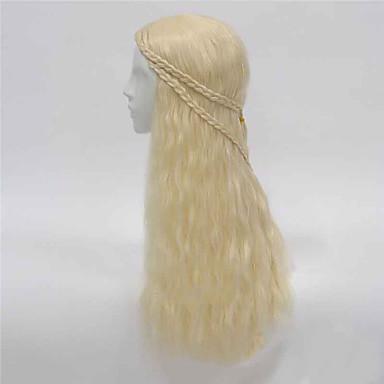 syntetisk hår hot film samme stil paryk lang bølge cosplay parykker klassiske hår