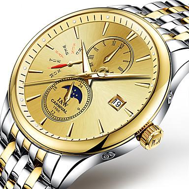 Carnival Masculino Relógio Esportivo Relógio de Moda relógio mecânico Automático - da corda automáticamente Noctilucente Fase da luaAço