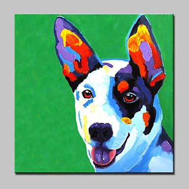 peinte à la main peinture à l'huile abstraite de chien animal moderne sur l'art mur de toile avec cadre étiré prêt à accrocher