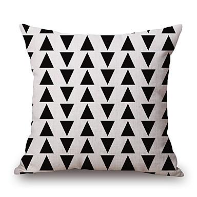Stück Baumwolle/Leinen Kissenbezug,Geometrisch Grafik-Drucke Freizeit Modern/Zeitgenössisch