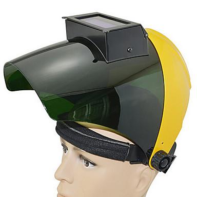 Huate pc hodesettet automatisk mørkere sveise hjelm sveising cap anti-shock maske