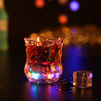 1pc colorido cor creativo aleatória pub KTV levou noite luz da lâmpada levou drinkware