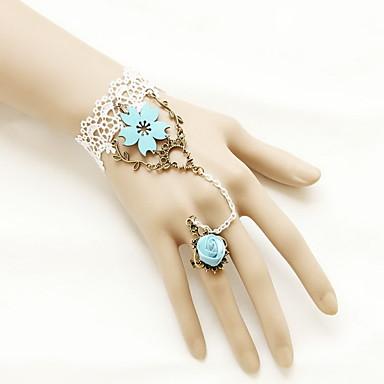 Feminino Pulseiras Anéis Fashion Renda Coração Jóias Para