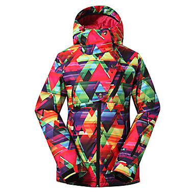 a583dae185 GSOU SNOW Women s Ski Jacket Waterproof Thermal   Warm Windproof Ski   Snowboard  Winter Sports Polyester