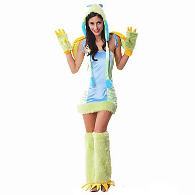 Costumes de Cosplay Superhéros Power Rangers Cosplay de Film Robe Gants Jambières Chapeau Halloween Noël Nouvel an Féminin Térylène