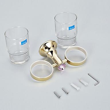Zahnbürstenhalter / Zahnbürste Cup / Messin, poliert / Wandmontage /30*10*12 /Messing /Modern /30 10 0.268