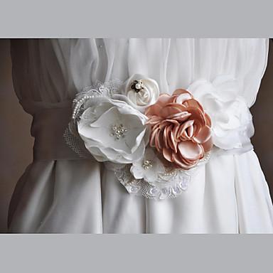 Sateng/tyll Chiffon Blonde Bryllup Fest / aften Hverdag Bånd With Imitasjonsperle Blomster Dame Skjerf