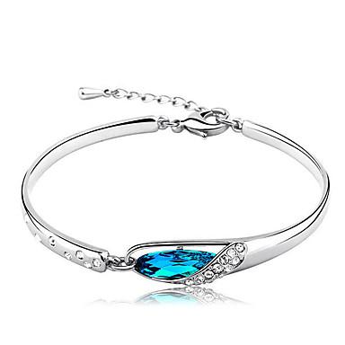 Mujer Azul Cristal - Cadena Pulseras y Brazaletes Azul Para Regalo Diario