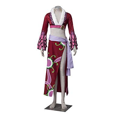 Inspiriert von One Piece Boa Hancock Anime Cosplay Kostüme Cosplay Kostüme Blumen Langarm Mantel Rock Gürtel Taille Accessoire Für Damen