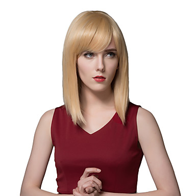 longas perucas humanos retas elegantes de cabelo para as mulheres