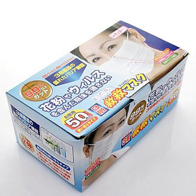 japão descartável não tecido três camadas de máscara de gaze anti pólen máscara de pó 50 peças