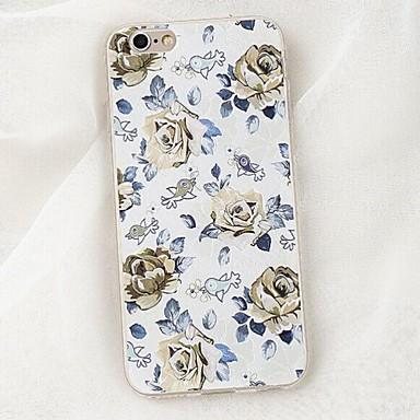 Til Etui iPhone 6 Etui iPhone 6 Plus Etuier Covere Støtsikker Bakdeksel Etui Blomst Myk TPU til AppleiPhone 6s Plus iPhone 6 Plus iPhone