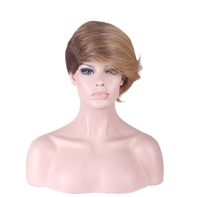 Szintetikus parókák Egyenes Sűrűség Sapka nélküli Női Természetes paróka Rövid Szintetikus haj