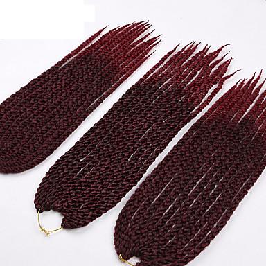 Tranças torção torção cúbico fibra sintética Preto jet 1b / roxo burgundy 1b / # 27 1b / # 30 Extensões de cabelo 56cm Tranças de cabelo
