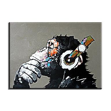 Pintados à mão Animal Clássico Estilo Europeu Estilo Modern Tradicional Realismo Mediterrêneo Pastoril Tela Pintura a Óleo Decoração para