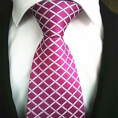 A la Mode Rouge Rose Tissu Hommes Tie Bar-1pc