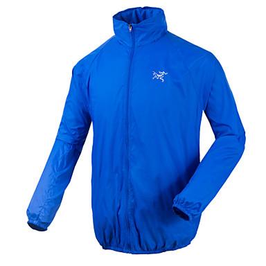 ג'קט לרכיבה בגדי ריקוד גברים אופניים מעילי רוח עמיד רוכסן קדמי 100% פוליאסטר סקי מחנאות וטיולים אביב קיץ סתיוורוד כחול בהיר הסוואה ירוק