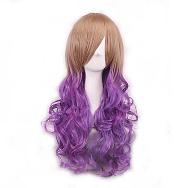 Synthetische Haare Perücken Locken Gefärbte Haarspitzen (Ombré Hair) Kappenlos Cosplay Perücke