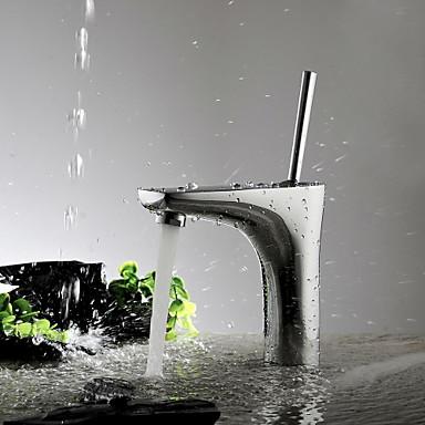 Aquafaucet Single handle chrome bathroom sink vessel faucet basin mixer taps
